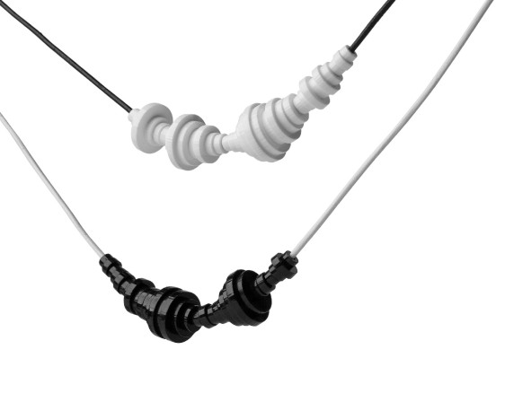Waveform necklaces are as personalized as jewelry gets, short of adding your DNA strands.