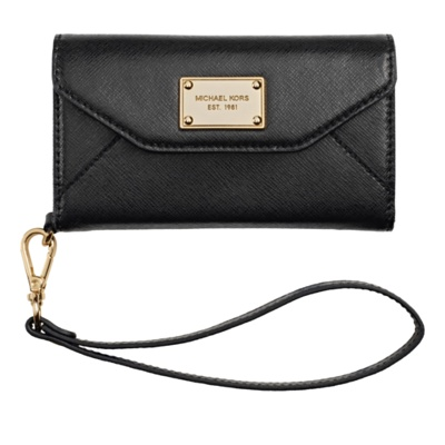 Ooh, swanky designer iPhone wallet clutch from Michael Kors.
