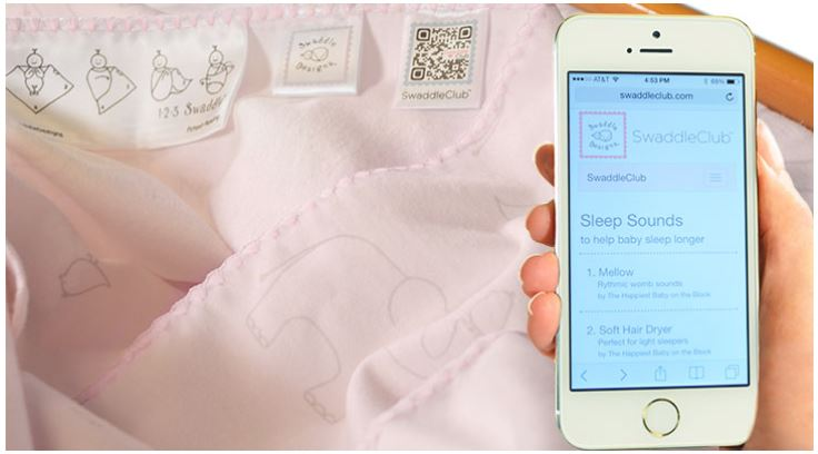 Baby advice from… a QR code swaddle blanket?