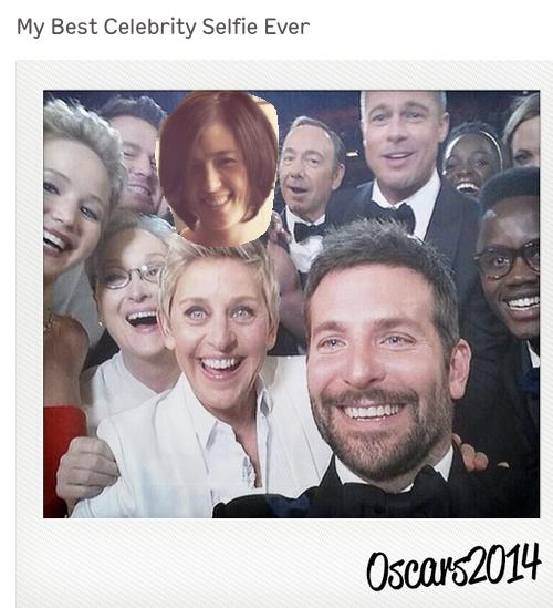Put yourself in the Ellen Oscars selfie. (Just not over Bradley Cooper please)