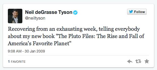 Neil DeGrasse Tyson first tweet