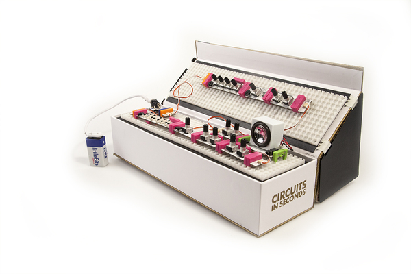 The littleBits Synth Kit maker toy lets kids pump up the volume