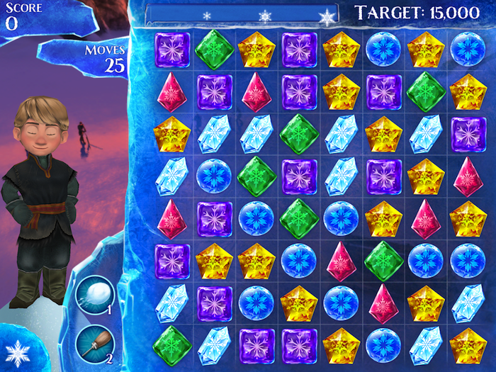 "The Frozen Free Fall game app: Like Candy Crush for kids who can't stop singing ""Let it Go"""