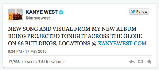 Kanye West first tweet