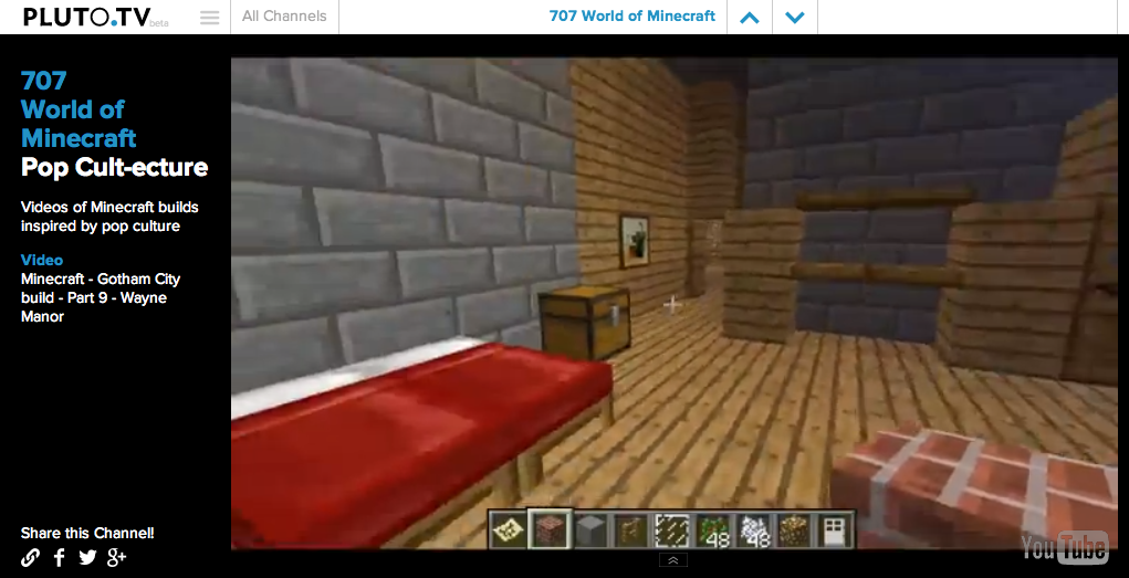Pluto.TV world of minecraft channel - Cool Mom Tech