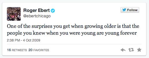 Roger Ebert first tweet
