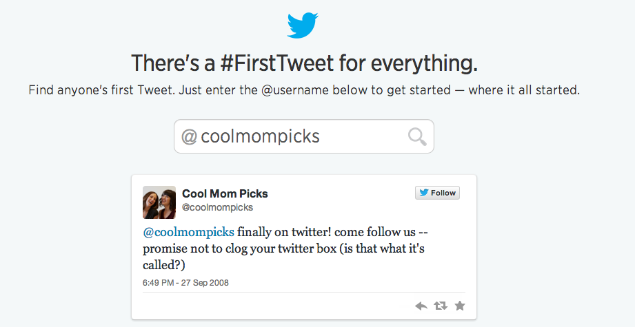 How to see your first tweet on Twitter. (Meeeem-rieeeees….)