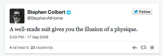 Stephen Colbert First Tweet
