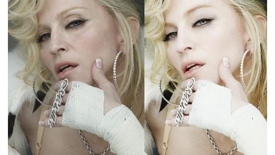 Photoshopped Madonna via Change.org