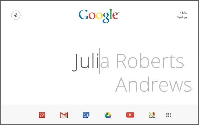 Google page redesign ideas: Single-Cursor Concept by Jake Nolan