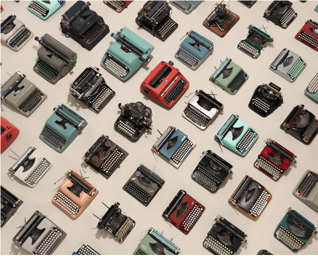 Jim Golden - Typewriters photograph from Patterns Series