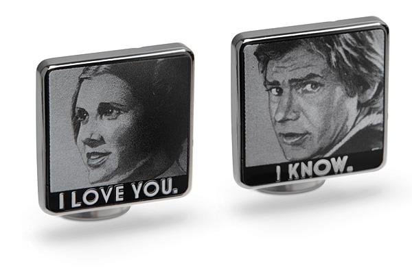 Star Wars I Love You / I Know cufflinks at Think Geek