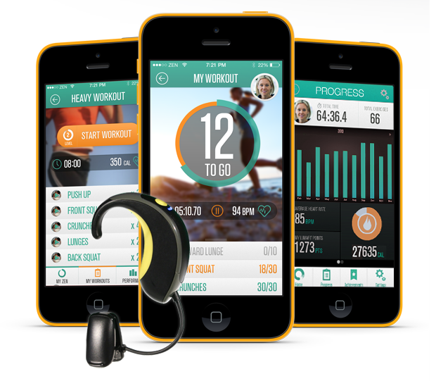 Lumafit fitness tracker: Wearable fitness tech for your ear.