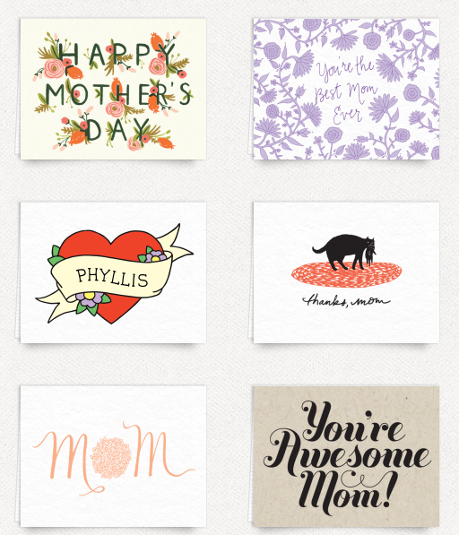 Postable cards for Mother's Day from your browser