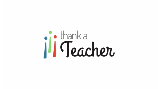 Thank a Teacher sends a free thank you note to your favorite teacher for Teacher Appreciation Day
