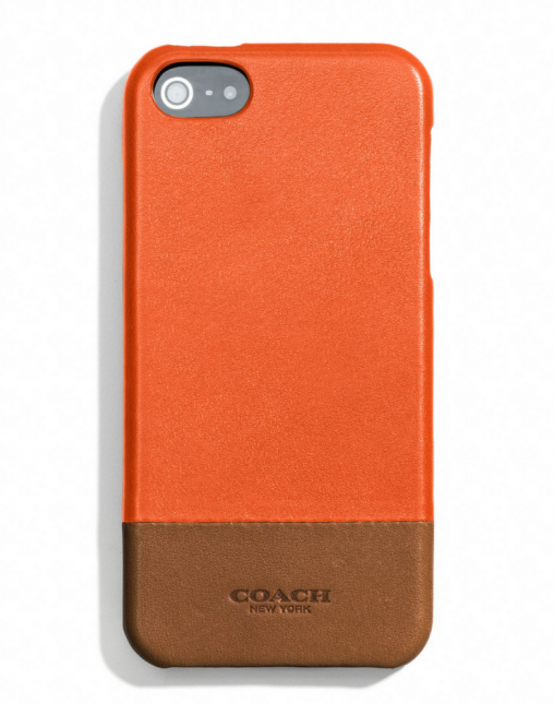 Cool iPhone cases for dad: Coach colorblock leather case