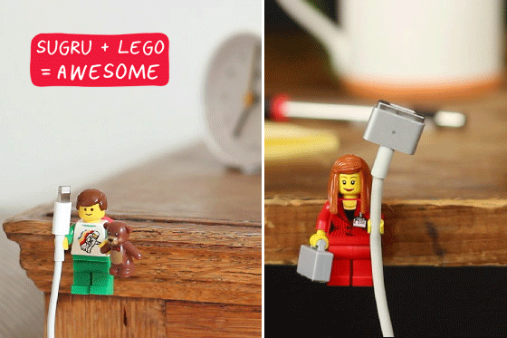 DIY Tech idea: Using LEGO minifigs to organize computer cords