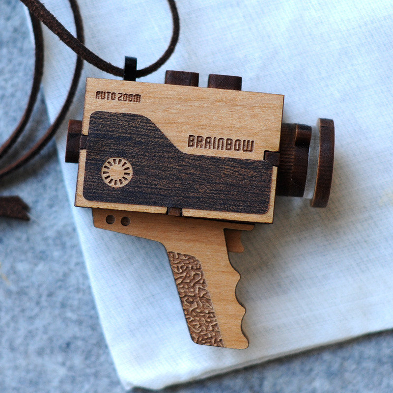 Old gadgets become conversation pieces with these cool wooden necklaces