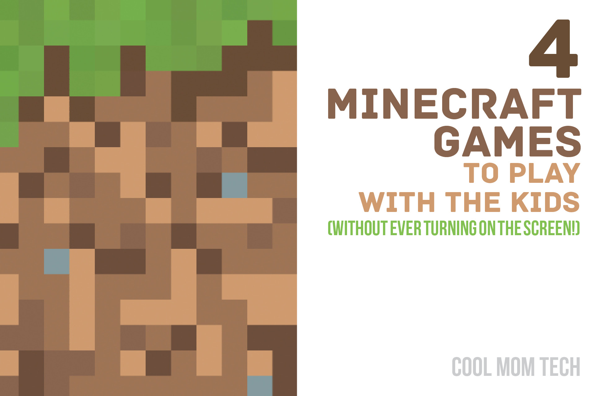 4 ideas for Minecraft games to play with the kids – without even turning on the screen.