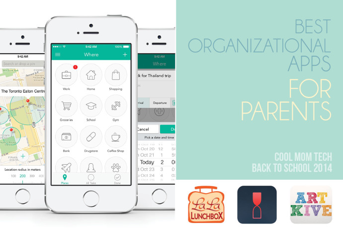 10 of the best organizational apps for parents: Back to School Tech Guide 2014