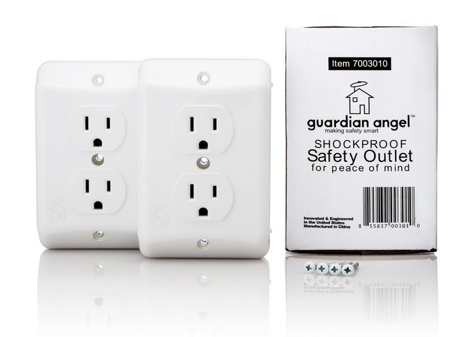 Guardian Angel Safety Outlet: the must-have outlet for parents. (Yes, there is such a thing).
