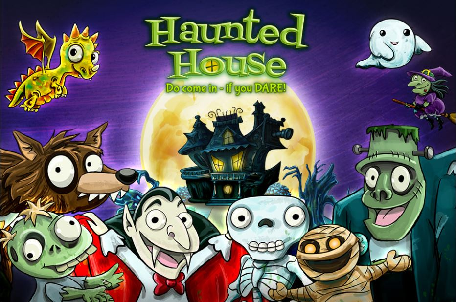 haunted house pop up activity book is a fun halloween app for kids