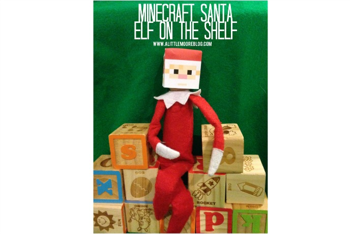 This free printable Minecraft Santa sees you when you're creeping