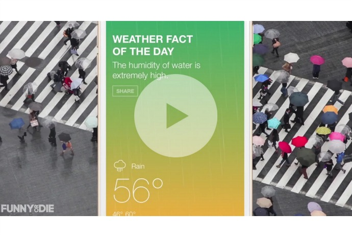 The Funny or Die Weather app can make you laugh when the weather makes you want to cry
