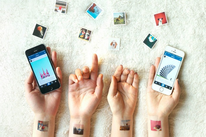 a clever way to print instagram pos? on your arms!