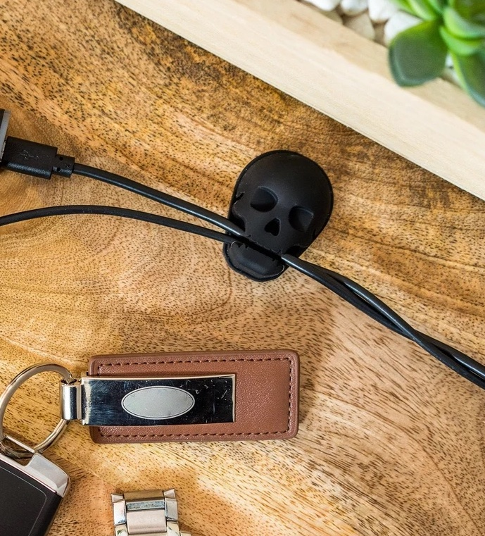 This skull cable organizer may be the coolest we've ever seen!