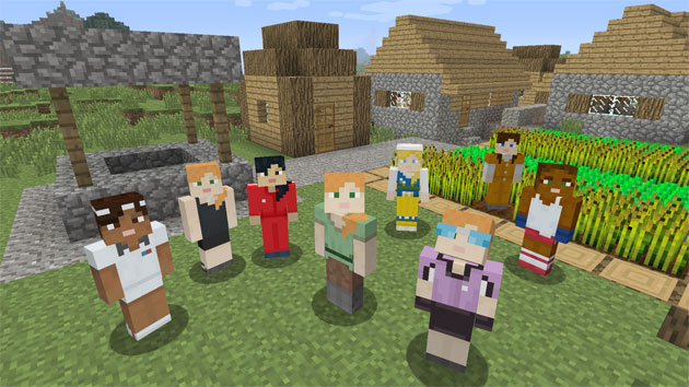 Minecraft launches the first girl character. And she's just as handy with a pickaxe or a bucket of lava.