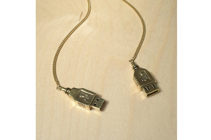 A USB necklace that doesn't actually do anything but look fabulous.