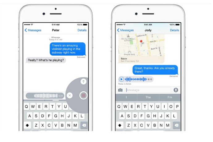 How to use the iOS 8 audio message feature: It's like it was made for parents.