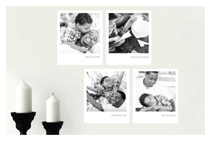 Photo wall decals: A Father's Day photo gift that saves the need to dig up the hammer and nails