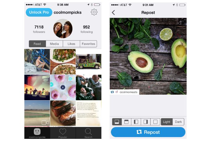 How to repost an Instagram photo: A comparison of the 3 top #regram apps