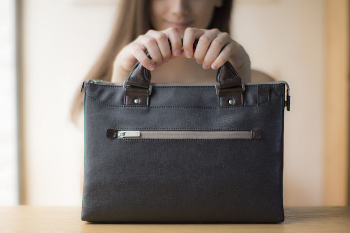 Moshi makes the perfect laptop bag for small tech and big style