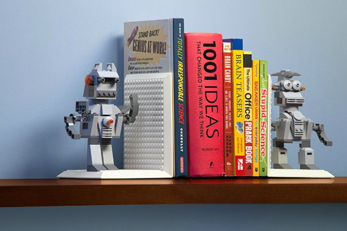 Build your own bookends for all those back to school books