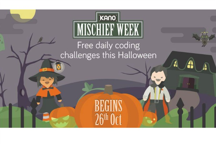 Get kids coding with free daily Halloween-themed challenges during Kano Mischief week