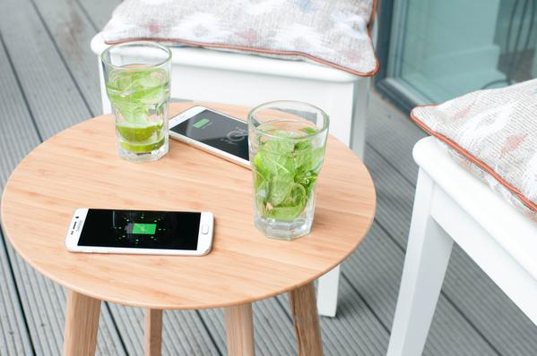 A side table that charges your phone. The future is here and we like it.