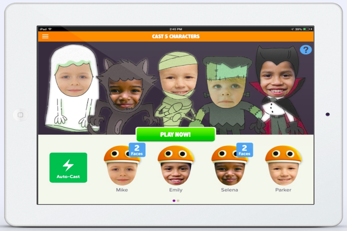 Storybots Halloween app from JibJab lets your kids be the star of their own Halloween video