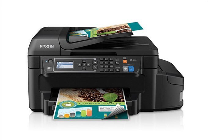 An eco-friendly printer with ink cartridges that don't need changing every minute? Whoa.