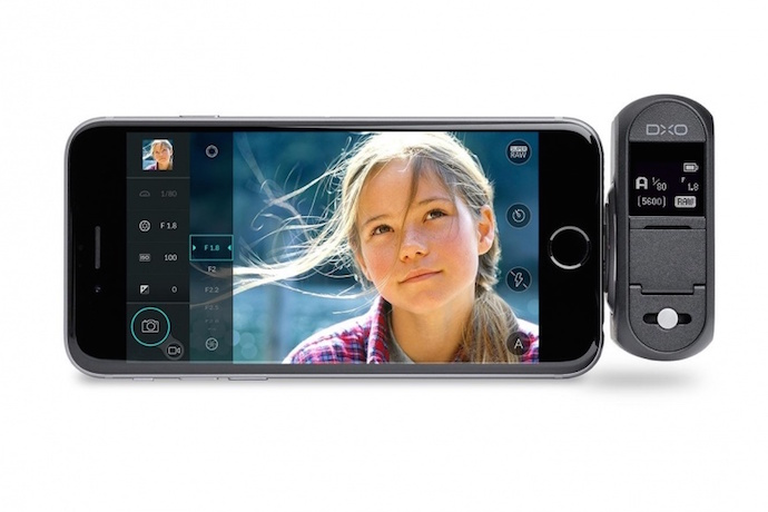 The DxO One camera turns your iPhone into a DSLR camera. Wow.