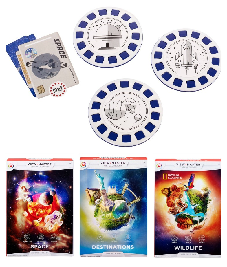 The new View-Master Virtual Reality Experience Kits: Space, Wildlife, and Landmarks