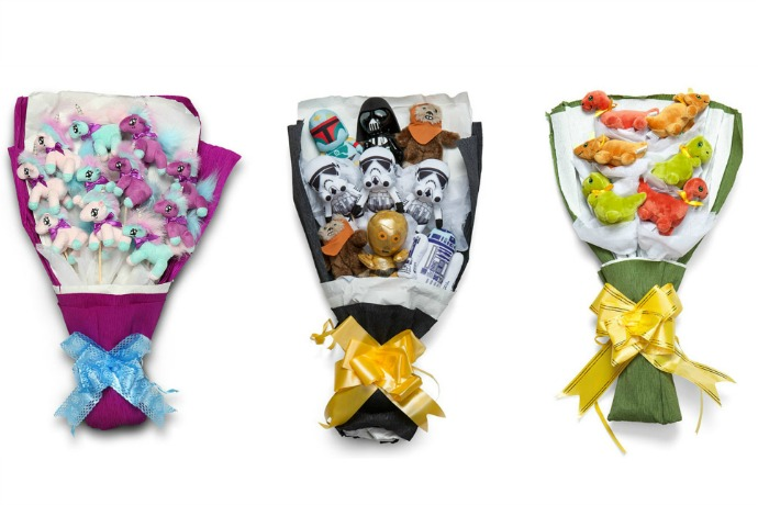Star Wars bouquets! Can we say this is the Valentine's gift you've been looking for?
