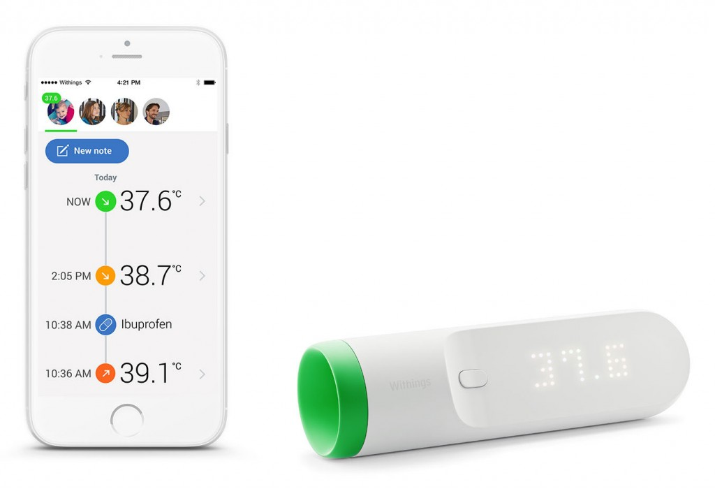 Coolest new tech for parents: The new Withings Thermo wifi-connected thermometer