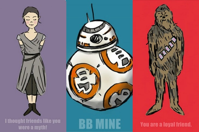 12 of the best geeky-cool printable Valentine's cards: Star Wars, Minecraft, emojis, FNAF, science and more.