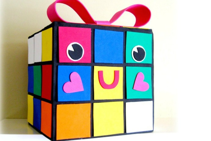 The cutest geeky DIY Valentine's Day card mailbox