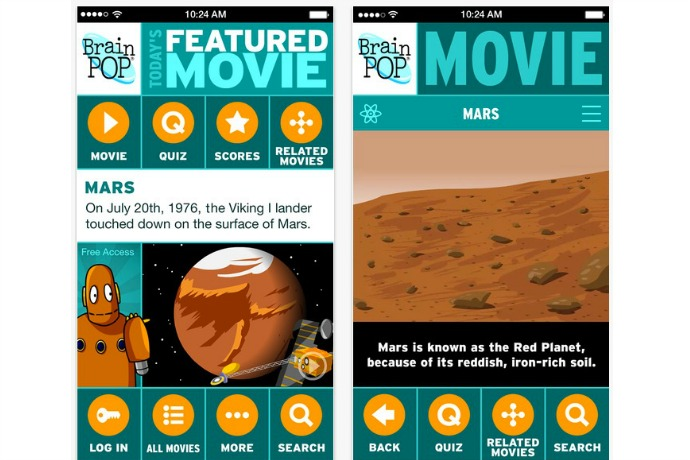 Brain Pop Featured Movie: Our cool free app of the week