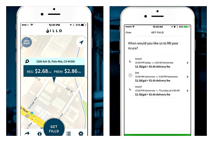 The FILLD app brings gas to your car, so you never have to stop for gas again