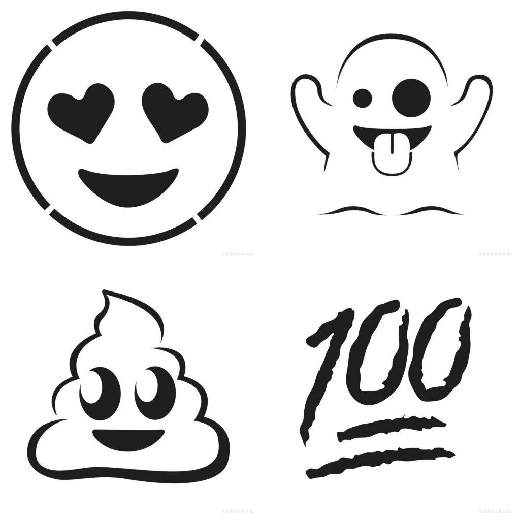 12 free emoji pumpkin carving templates from Pop Sugar